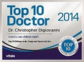 Top Doctor 2014 - Christopher W. DiGiovanni, MD - Orthopaedic Surgeon